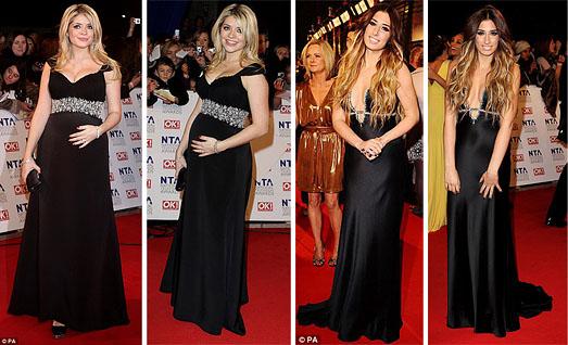 National Television Awards 2011 Black Dresses
