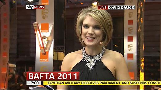 Sky News Charlotte Hawkins BAFTAs Suzanne Neville Black Dress
