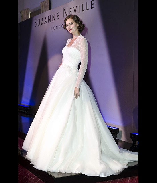 Catwalk Runways | Nostalgia 2012 Designer Bridal Gowns | Carly with Jacket by Suzanne Neville
