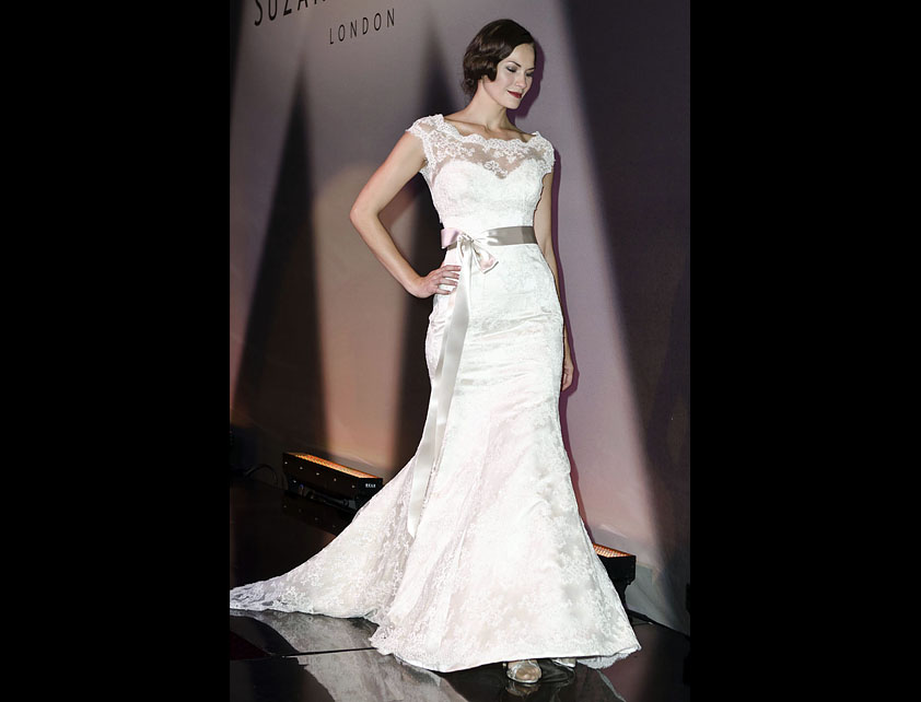 Catwalk Runways | Nostalgia 2012 Designer Bridal Gowns | Hepburn with Jacket by Suzanne Neville