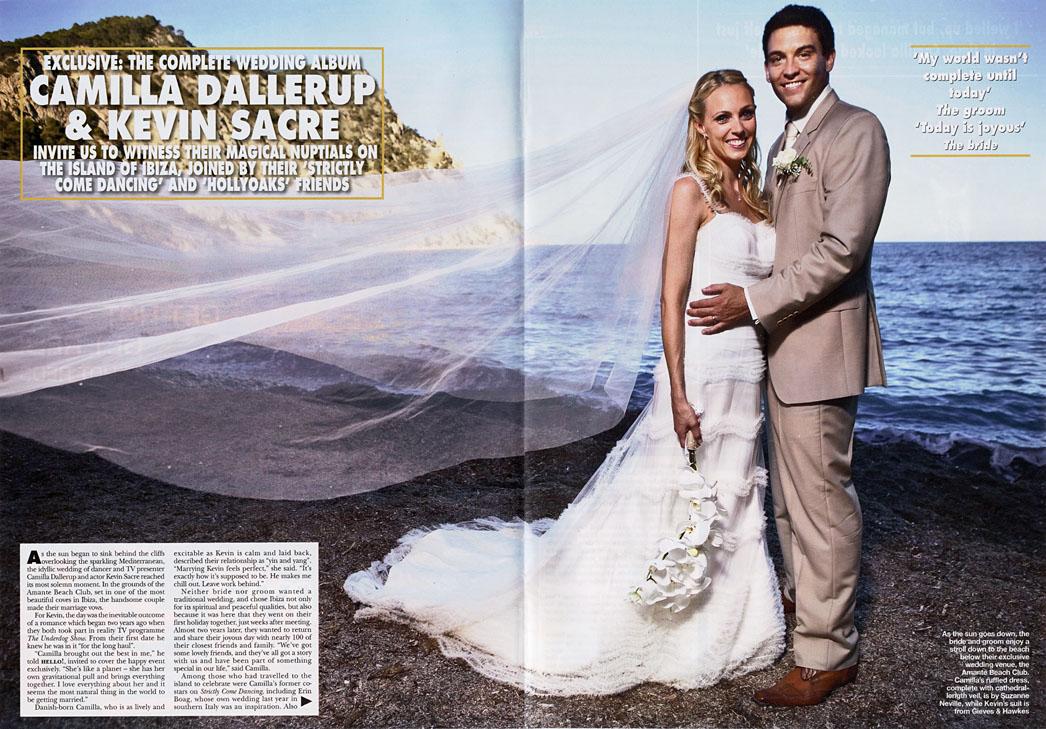 Beach Wedding Camilla Dallerup To Kevin Sacre Suzanne Neville
