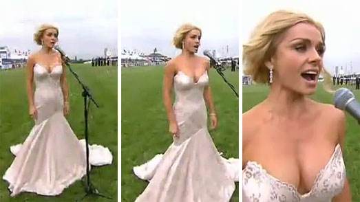 Katherine Jenkins In Champagne Dress At The Queens Jubilee