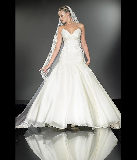 designer wedding dresses - florentine - diamond collection 2013 - catwalk by Suzanne Neville