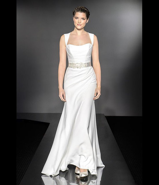 designer wedding dresses - solitaire - diamond collection 2013 - catwalk by Suzanne Neville
