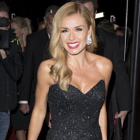 katherinejenkins-welshbaftas2014-blacksparklingdress-celebrityfashion-suzanneneville