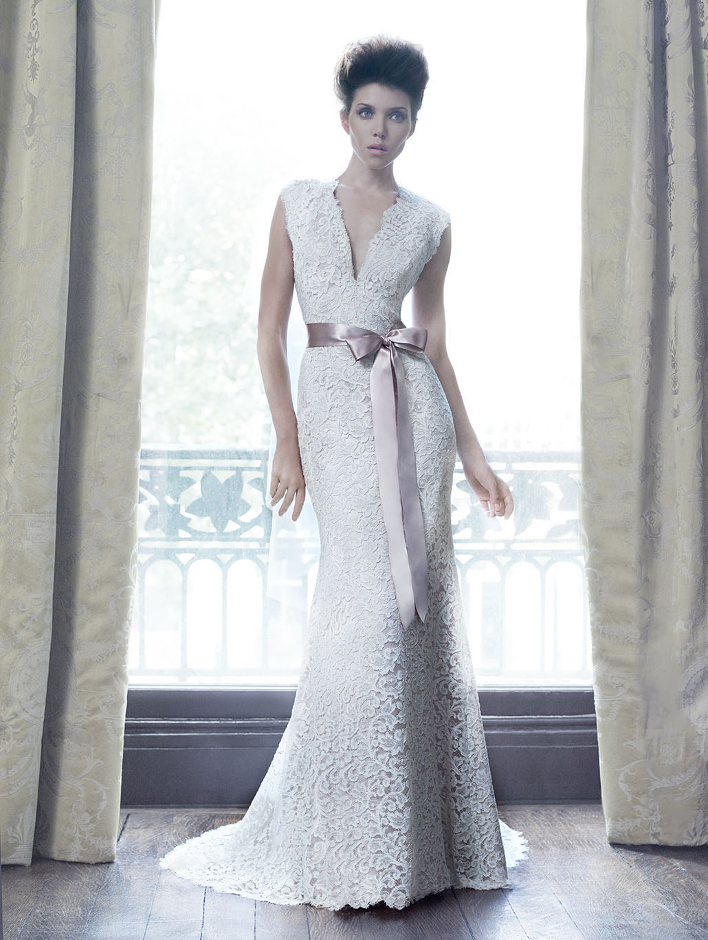 Radiance | Champagne Wedding Dress by Suzanne Neville