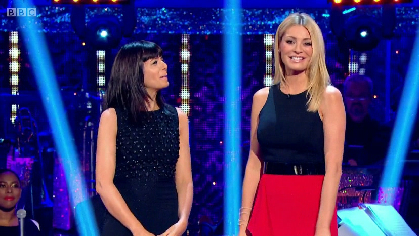 41d6ad3194c1 Tess Daly in designer red dress on Strictly Come Dancing Week 1