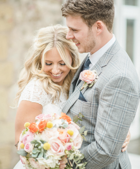Suzanne Neville real bride pictures Sarah Lambert, designer bridal gown