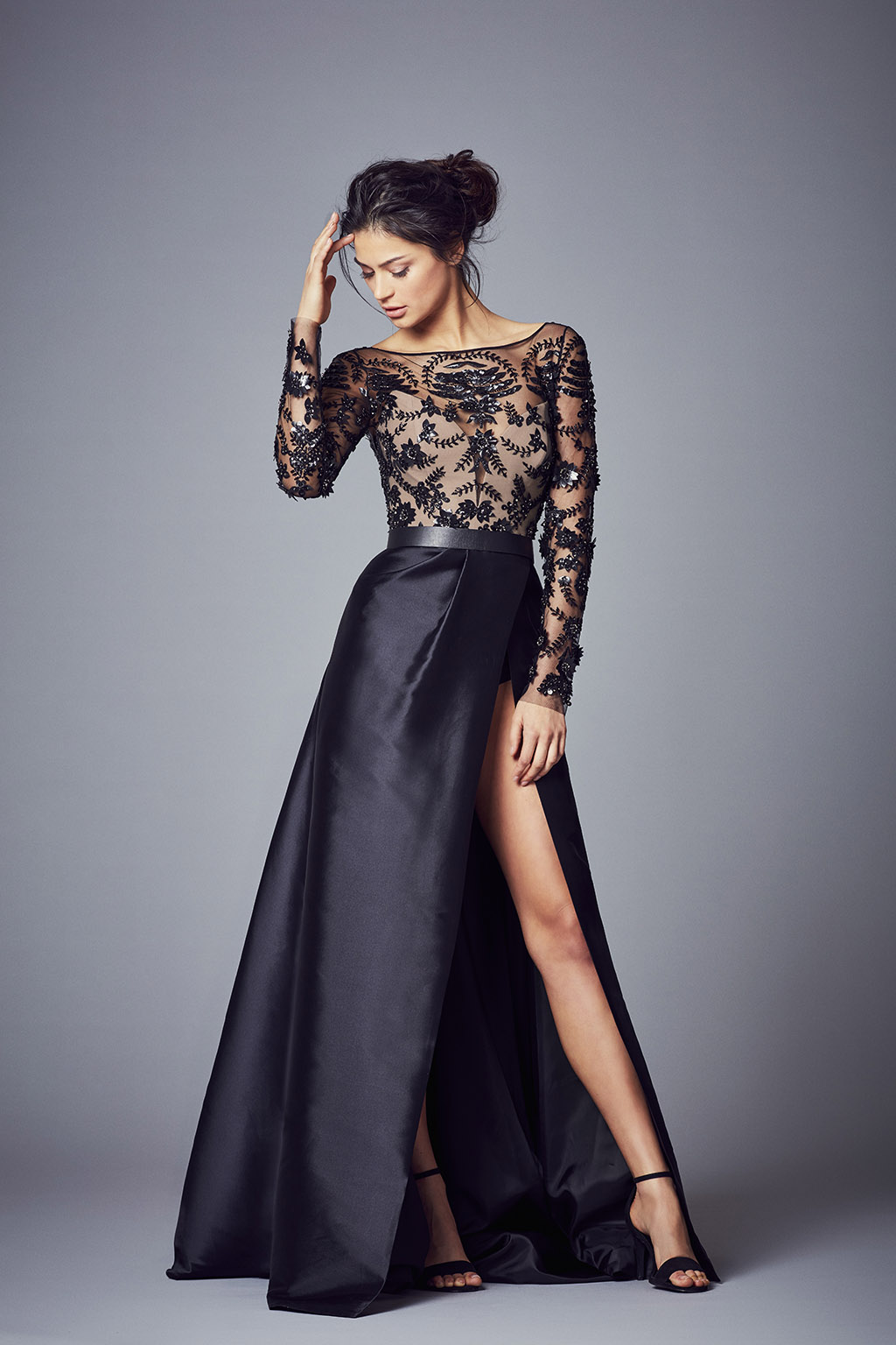 Gown evening dress