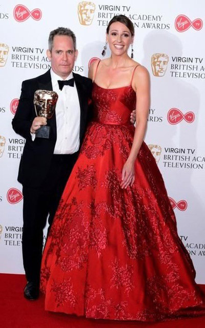 Suranne Jones | BAFTAs 2017 | Red Dress by designer Suzanne Neville