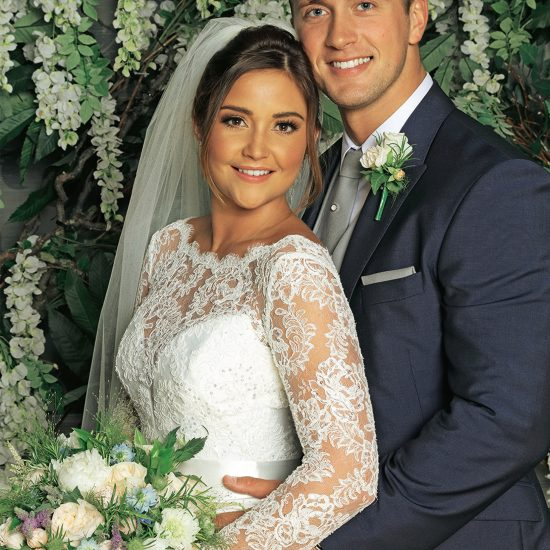 TV couples married in real life: | Jacqueline Joss and Dan Osborne designer wedding dresses