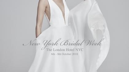 New York Bridal Week : 6th - 8th October 2018