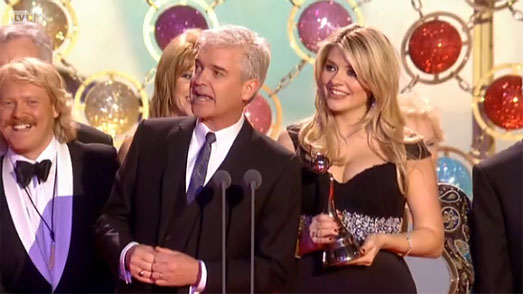 National Television Awards 2011 Holly Willoughby This Morning in black dress