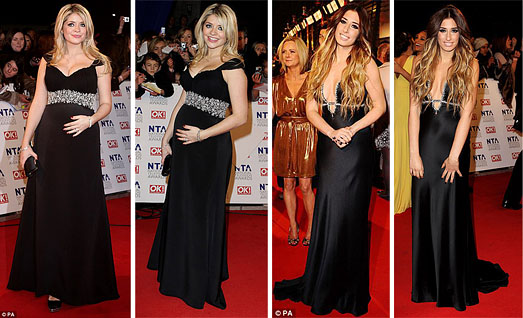 National Television Awards 2011 Black Dresses
