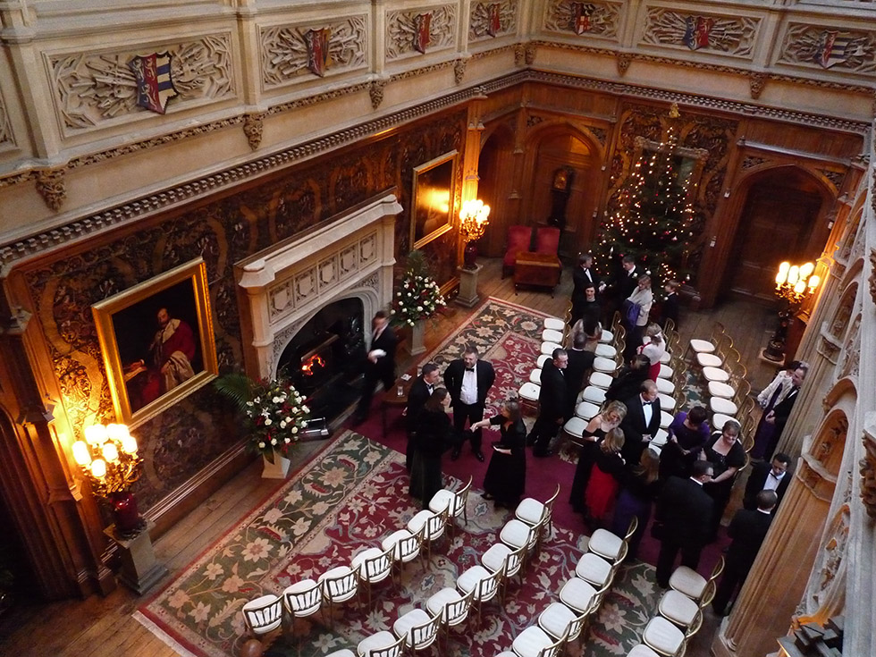 Winter Wedding at Highclere Castle - Suzanne Neville