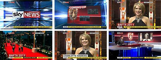 Sky News Charlotte Hawkins BAFTAs 2011 Suzanne Neville Black Dress
