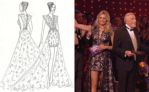 a3473dafdb5c74 Tess Daly on BBC Strictly Come Dancing Grand Final in designer dress by  Suzanne Neville