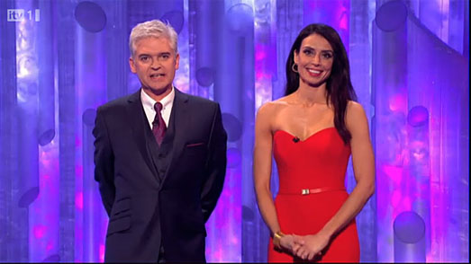 Christine Bleakley | Dancing on Ice 2012 | red dress by Suzanne Neville