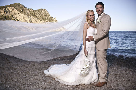 Camilla Sacre-Dallerrup | celebrity wedding dresses by designer Suzanne Neville
