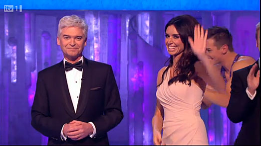 Christine Bleakley dress for Dancing on Ice Finals 2012 by Suzanne Neville