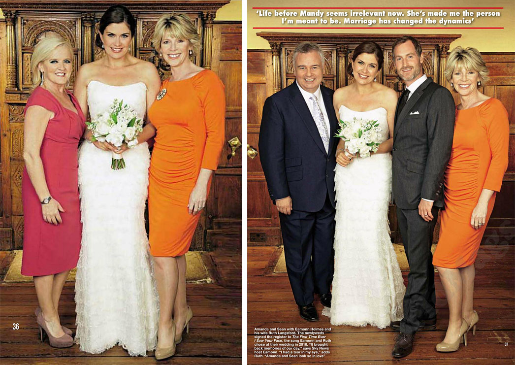 Amanda Lamb | Hello Magazine | Wedding Dresses by Suzanne Neville