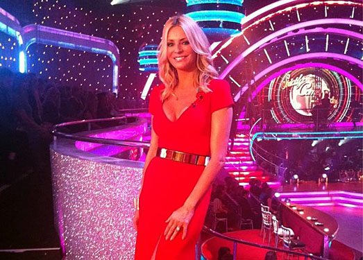 Tess Daly | Strictly Come Dancing | designer red dress by Suzanne Neville