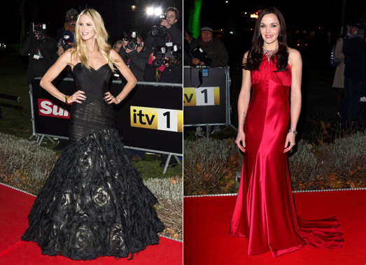 Elle MacPherson and Victoria Pendleton wear Suzanne Neville