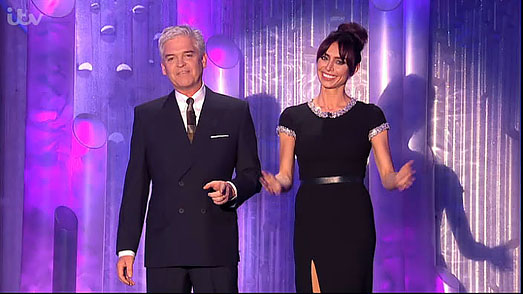 Dancing on Ice 2013 | Christine Bleakley in designer black dress by Suzanne Neville