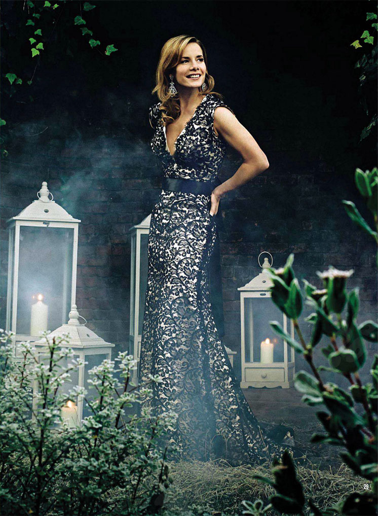 Darcey Bussell in designer dresses by Suzanne Neville | Hello Magazine
