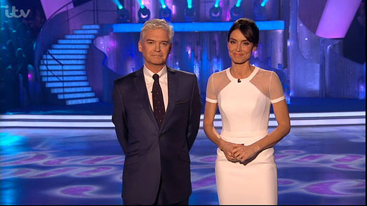 Christine Bleakley | Dancing on Ice 2013 | designer white dress by Suzanne Neville