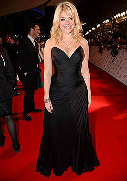 Holly Willoughby | NTA Awards 2014 | designer black dress by Suzanne Neville