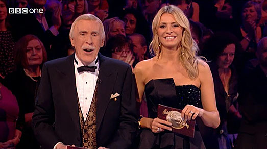 Tess Daly | black designer dress | Strictly Come Dancing 2013