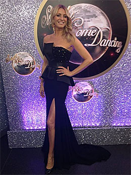 Tess Daly   black designer dress   Strictly Come Dancing 2013