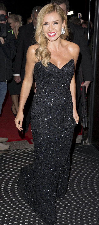 katherinejenkins-welshbaftas2014-blacksparklingdress-celebrityfashion-suzanneneville3