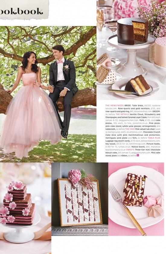 BRIDES Magazine – Nov/Dec 2014 Issue. Dress Featured: Ballet in Blush Pink (Novello 2015 Collection) by suzanne neville