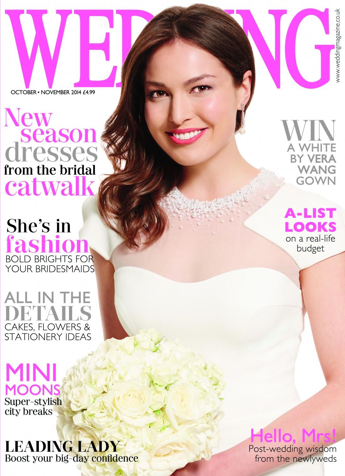 Wedding Cover, Memoire, october:november 2014 by suzanne neville bridal designer
