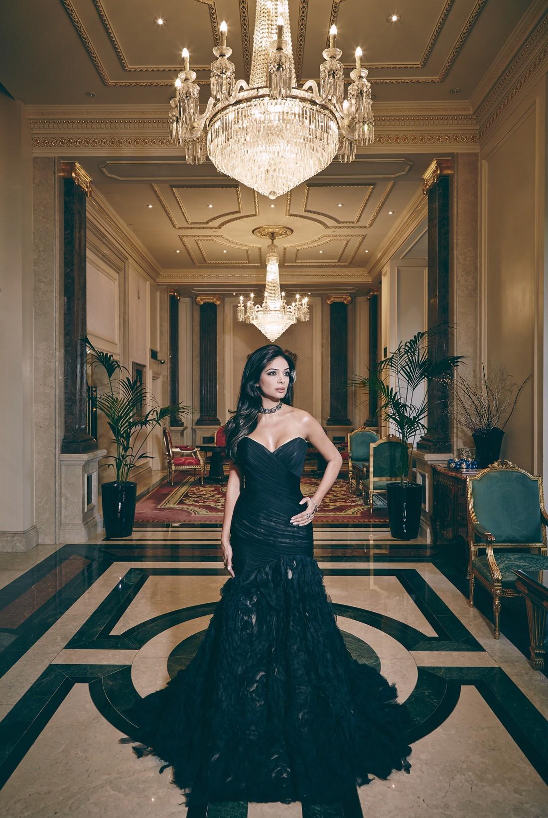 HELLO magazine India March 2015 issue featuring designer Suzanne Neville bespoke gown