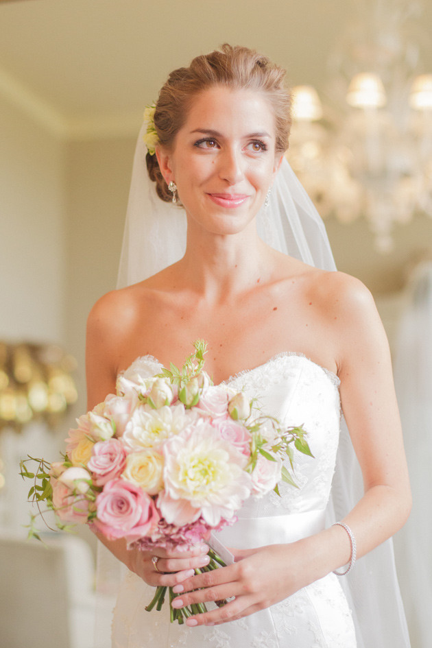 Epictures of Suzanne Neville designer wedding dresses worn by real life brides Liat Gregory