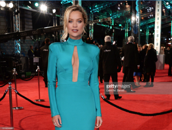 Laura Whitmore wears designer suzanne neville to the baftas 2016 1