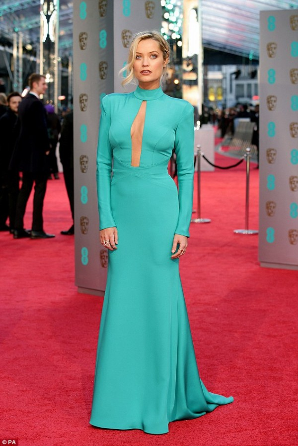 Laura Whitmore wears designer suzanne neville to the baftas 2016 11