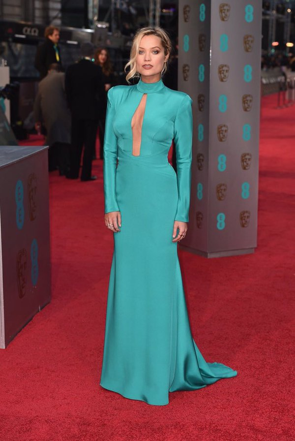 Laura Whitmore wears designer suzanne neville to the baftas 2016 7