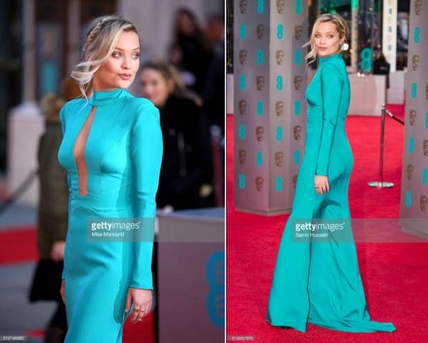 Laura Whitmore wears designer suzanne neville to the baftas 2016 8 11