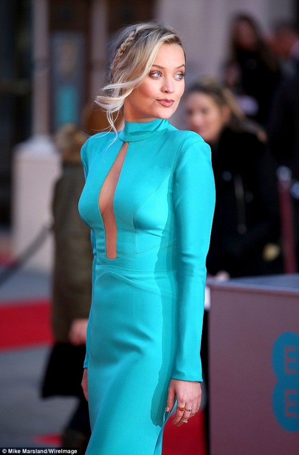 Laura Whitmore wears designer suzanne neville to the baftas 2016 9 12