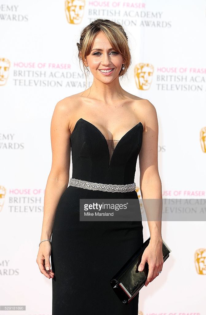 arrives for the House Of Fraser British Academy Television Awards 2016 at the Royal Festival Hall on May 8, 2016 in London, England.