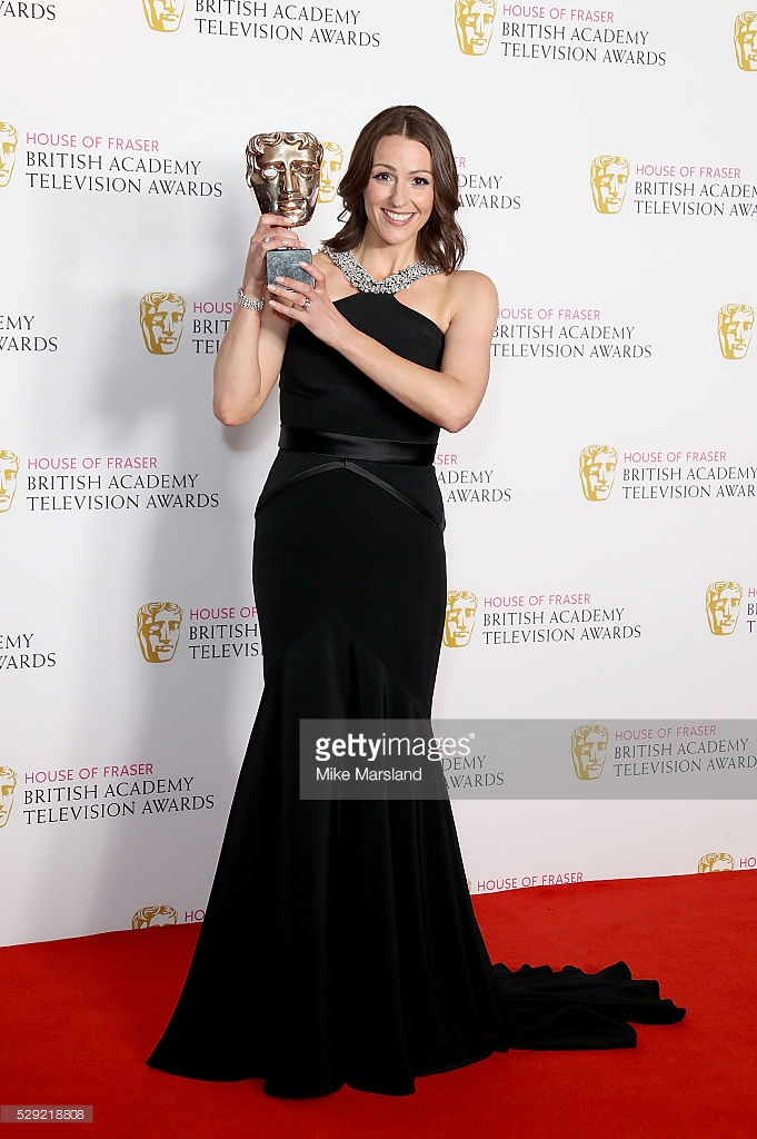 poses in the winners room at the House Of Fraser British Academy Television Awards 2016 at the Royal Festival Hall on May 8, 2016 in London, England.