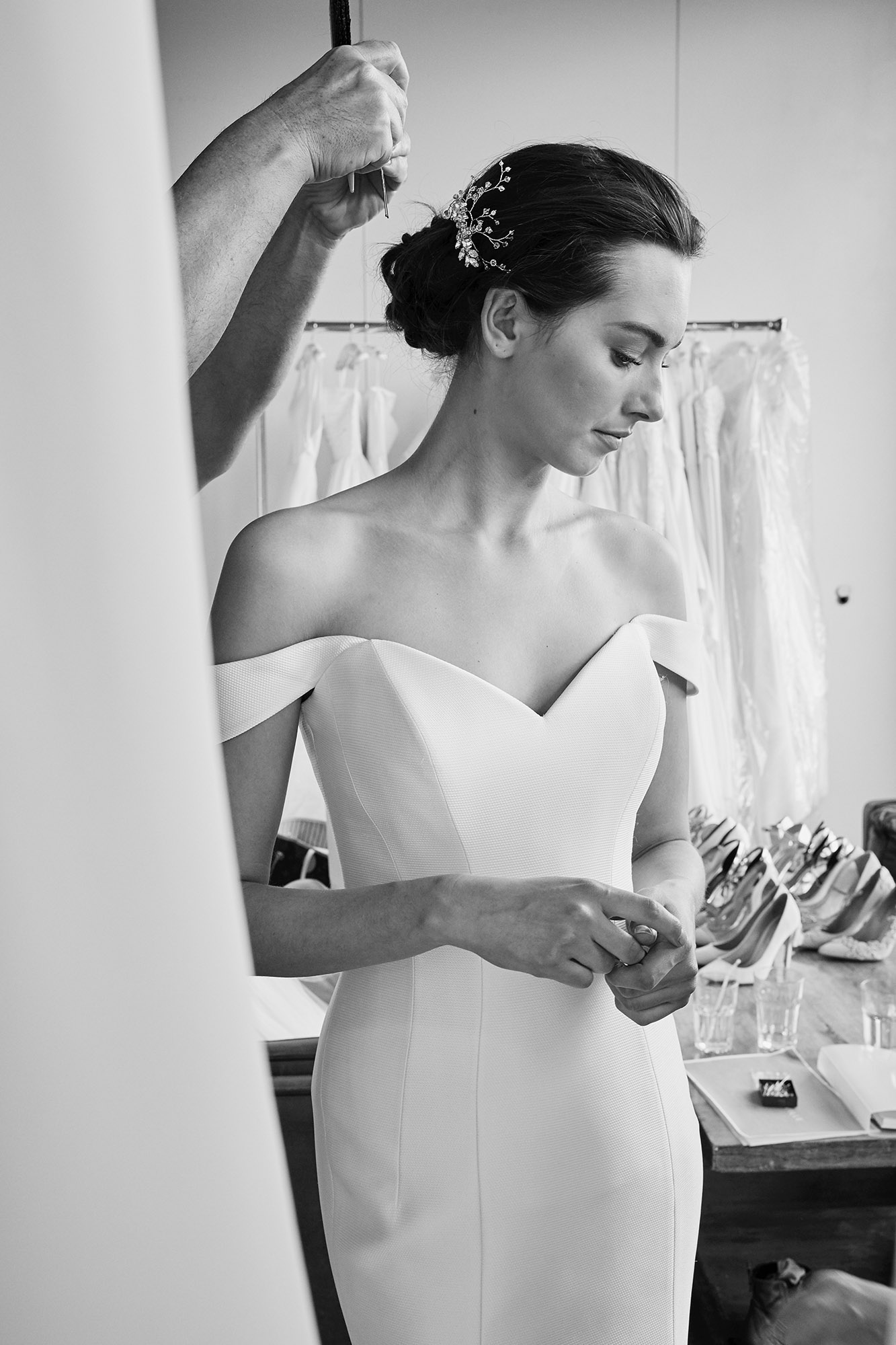 Alaia (behind the scenes) | Lookbook Collection 2019 | designer wedding dresses by Suzanne Neville