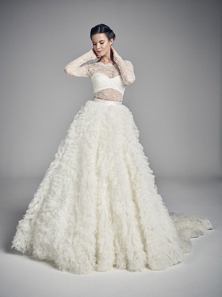 Divine Skirt - Flores Collections 2020 | wedding dresses uk | Suzanne Neville