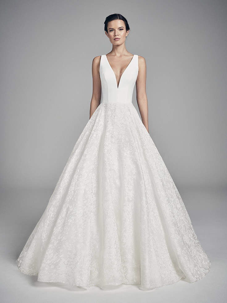 Swan - Flores Collections 2020 | wedding dresses uk | Suzanne Neville