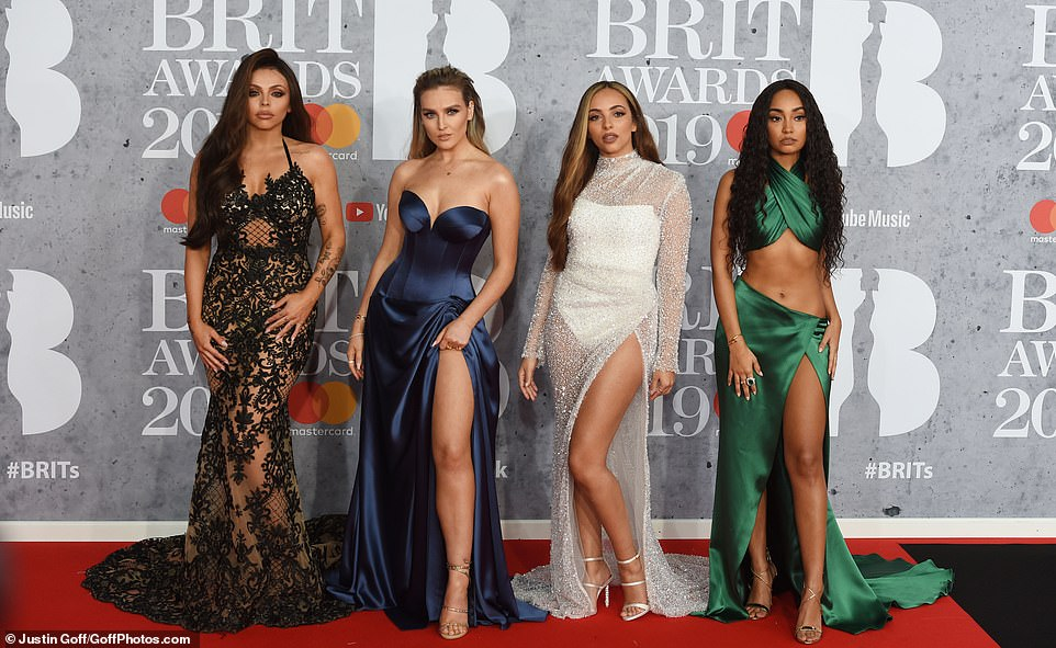 Red Carpet Fashion - Little Mix - Perrie Edwards - BRIT Awards 2019