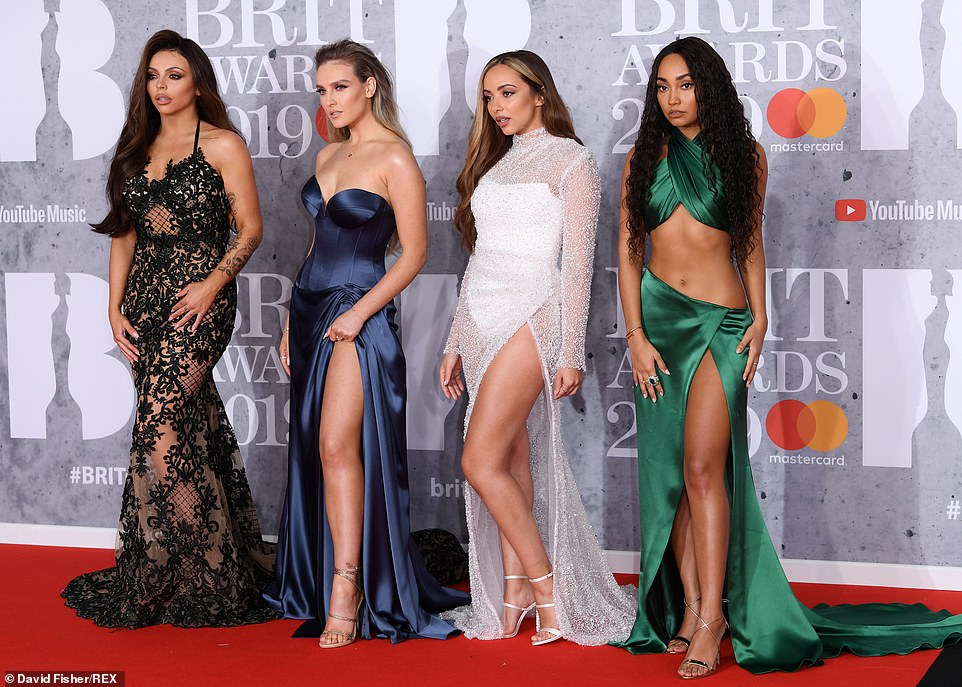 Red Carpet Fashion - Little Mix - Perrie Edwards - BRIT Awards 20191
